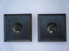 1950s Old Lot Of 2 Bakelite & Porcelain Electric Switch Made in India Rare #1178