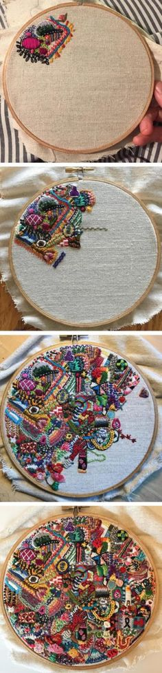 1 Year of Stitches project by Michelle Anais Beaulieu-Morgan