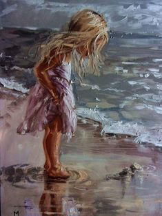buy-prints-of-the-sweetest-things-sea-original-painting-palette-knife-gift-angel-modern-an-oil-painting-on-canvas-by-monika-luniak-from-germany/ SULTANGAZI SEARCH Art Plage, Painting People, Modern Art Prints, Fine Art Prints, Art Moderne, Oil Painting On Canvas, Canvas Art Prints, Painting Clouds, Textured Painting
