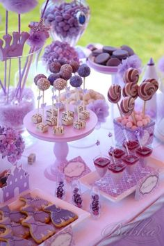 Disney Party Ideas: Sofia the First Party Princess Sofia Birthday, Rapunzel Birthday Party, Sofia The First Birthday Party, Second Birthday Ideas, 4th Birthday Parties, Birthday Party Decorations, 3rd Birthday, Purple Party, Festa Party