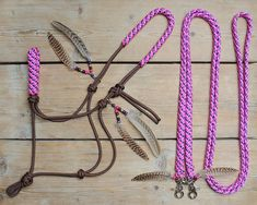 Horse Stuff, Tack, Equestrian, Beaded Necklace, Horses, Beads, Hair Styles, Leather, Jewelry