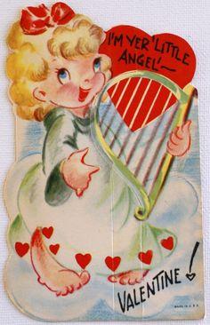 """""""I'm your little angel"""" vintage valentine"""