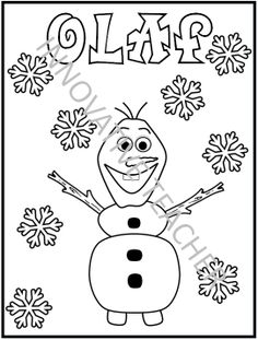 frozen printable snowman coloring page disney pinterest frozen