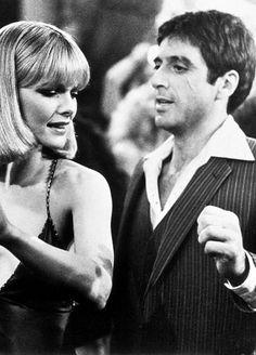 Al Pacino y Michelle Pfeiffer (Scarface), 1983