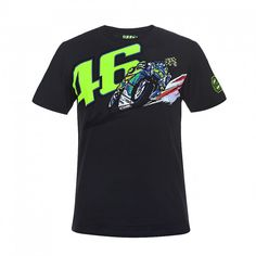 New Arrival ! 2017 Valentino Rossi VR46 Moto GP 46 Banking Vale T-shirt Life Style Motorcycle Sport Black Men's T-shirt