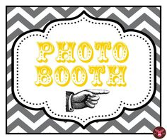 DIY Digital Download - Design your own Photo Booth Sign - Chevron - Photo Booth Props - Photobooth Props