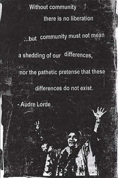 Audre Lorde is one of the most amazing women that ever lived, love her. Description from pinterest.com. I searched for this on bing.com/images