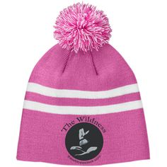 Logo - Team 365 Striped Pom Beanie