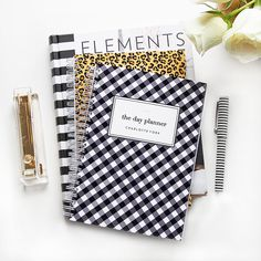 Personalized Day Planner  Gingham by LetterLoveDesigns on Etsy