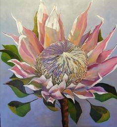 Protea Art, Protea Flower, King Protea, Parts Of A Flower, King Art, Name Art, Exotic Flowers, Ceramic Painting, Native Plants