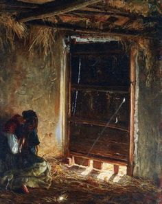 """Filippo Palizzi, """"Mariuccia"""", olio su tela, cm 47 x 38, #PinacotecaCivica #AscoliPiceno #Marche #Italy"""