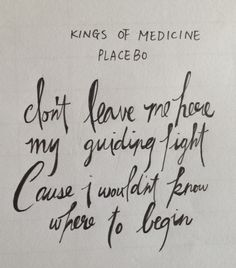 Placebo - Kings of Medicine