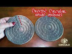 União invisível no crochê circular (Crochê Passo a Passo Claudete Azevedo) - YouTube