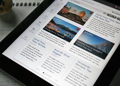 News Screen (iPad UX/UI)