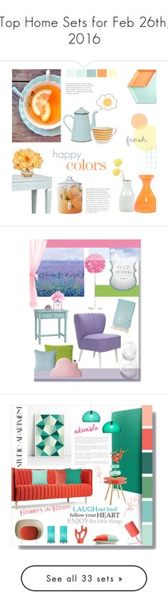 """""""Top Home Sets for Feb 26th, 2016"""" by polyvore ❤ liked on Polyvore featuring interior, interiors, interior design, home, home decor, interior decorating, Material Good, Worlds Away, HAY and Anchor Hocking"""