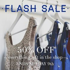 FLASH SALE! Enjoy 50% off everything in the shop only a few items left! Sale ends on sunday 9th march  rosaspinavintage.bigcartel.com instagrammed by ale_rosaspina