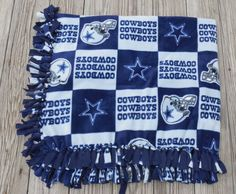 #Cowboys #Fleece #Lap #Throw Fleece #Blanket #Sofa #Throw by GabbysQuilts #handmade #etsymntt #circle1