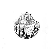 Resultado de imagen de sea mountain drawing