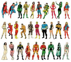Legion of Super-Heroes - I loved these classic outfits and the pencills of Mike Grell.