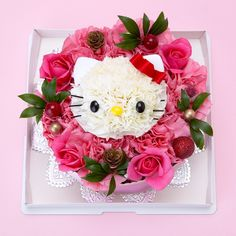(Mother's Day) Hello Kitty Flower round cake