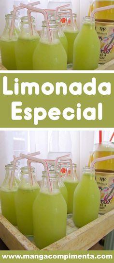 Limonada Especial da Lia do Tacho da Pepa - com Limão Siciliano e Capim Santo, uma bebida deliciosa. Whittard, Bebidas Detox, Light Diet, Slow Food, Low Carb Recipes, Wines, Catering, Smoothies, Juice