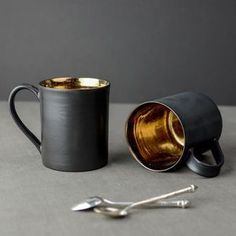 """Bronze Glaze Ceramic Tea Mug - feeling cosy 