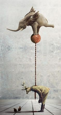 My Animal Instincts by Kinga Britschgi, via Behance