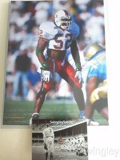 Ray Lewis Signed Miami Hurricanes 11x14 Photo