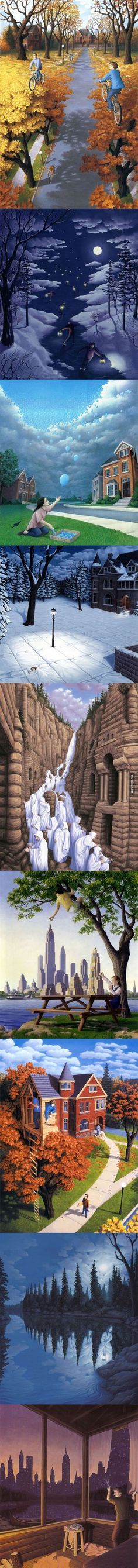 Mind-bending paintings by Rob Gonsalves