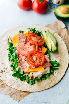 The BEST Turkey Avocado Ranch & Bacon CLUB WRAPS. Easy, healthy, delicious, and ready in under 10 minutes.