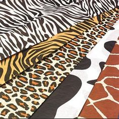 animal print tissue paper pack of 60 in 5 designs