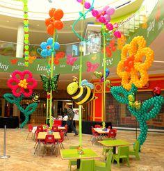 Giant Flower Balloon Sculptures