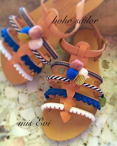 Boho sailor!!! Handmade leather sandals