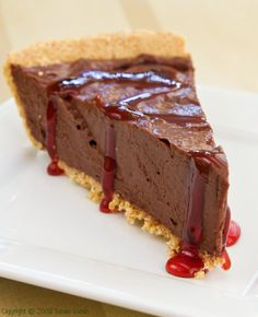 This vegan chocolate mousse pie has rich chocolate flavor sparked with cherry. Perfect for holidays or for anytime you need a special yet easy dessert! Vegan Chocolate Mousse, Chocolate Cherry, Chocolate Desserts, Vegan Desserts, Chocolate Cream, Chocolate Heaven, Chocolate Cookies, Irish Recipes, Pie Recipes
