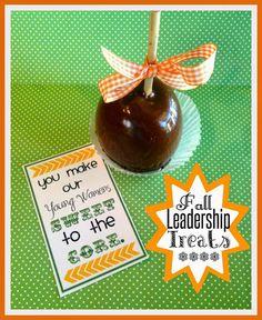 Fall Church Leadership Treats. From Marci Coombs Blog
