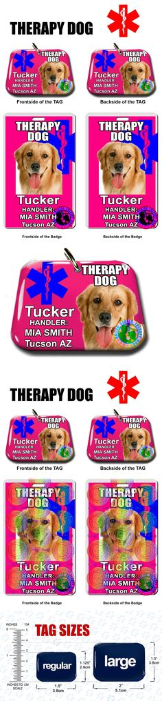 Tags and Charms 177790: Service Dog Id Tag And Badge Therapy Dog Combo Custom Photo Id For Pet Pink -> BUY IT NOW ONLY: $34.95 on eBay!