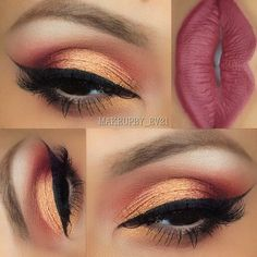 I don't normally like orange shadow but this one is gorgeous. By @makeupby_ev21
