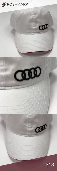 e053b57466d06 Audi Ball Cap Hat New White Audi Hat White New From a smoke free and pet  friendly home Audi Accessories Hats