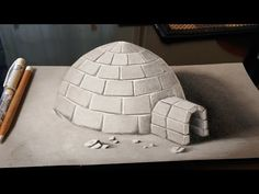 Drawing a 3D Igloo - YouTube