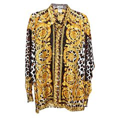 cfa5bab4202fa2 View this item and discover similar shirts for sale at - Gianni Versace  Baroque Print Silk Shirt.