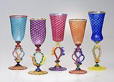 Art Glass Goblets by Robert Dane