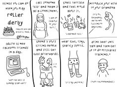 Roller Derby - Things I can do in derby - well, all but the last one. Haha