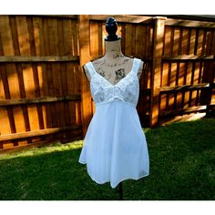 Vintage Baby Doll Peignoir Set by Chic Lingerie Wedding Peignoir Set... ($57) ❤ liked on Polyvore featuring intimates, sleepwear, nightgowns, sexy white nightgown, baby doll nightie, babydoll nightgown, white babydoll lingerie and sexy lingerie