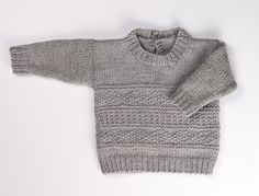 Just brought this book for this sweater! Baby Gansey pattern by Megan Goodacre from idiots guide to knitting sweaters Just brought this book for this sweater! Baby Gansey pattern by Megan Goodacre from idiots guide to knitting sweaters Baby Boy Knitting Patterns Free, Baby Sweater Patterns, Knitting For Kids, Baby Patterns, Toddler Sweater, Knit Baby Sweaters, Knitting Sweaters, How To Purl Knit, Knit Purl
