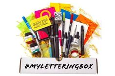 Lettering Box™ -10-14 Full Size Supplies (Pens, Markers, Inks, Watercolors & Much More). Great choice for anyone wanting to add to or start their lettering tools collection. Try some new and popular brands and discover your new favorite supplies. $35
