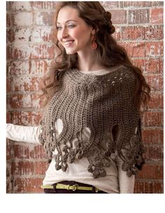 1000+ images about Ponchos on Pinterest | Crochet poncho ...