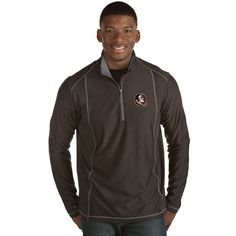 Florida State Seminoles Antigua Tempo 1/2-Zip Desert Dry Pullover Jacket - Black