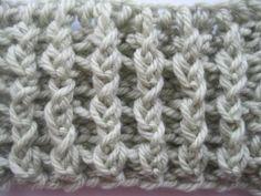 Crochet Vertical Ribbing - Tutorial
