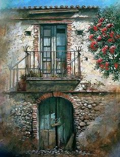 Photos from Francesco Mangialardi (oilpaints) on Myspace Mail Art, Painting Inspiration, Painting & Drawing, Watercolor Paintings, Scenery, Images, Doors, Fine Art, Landscape