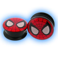 Acrylic Screw Plug Spiderman - 6mm through to 25mm and only £1.99 each Free shipping on orders over £10!
